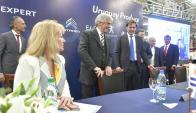 Carolina Cosse, Tabaré Vázquez y el CEO de Nordex Federico de Posadas. Foto: F. Ponzetto