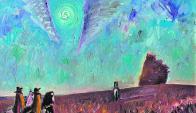 """Juan Storm: """"Escena de campo"""" óleo sobre la tela de 60 x 74 cm. Foto: Juan Storm"""