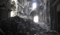 Alepo continúa en ruinas. Foto: Efe.