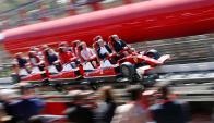 Adrenalina. Los juegos que animan el parque buscan hacer experimentar a sus visitantes la misma intensidad que viven los pilotos de F1. (Foto: Reuters)