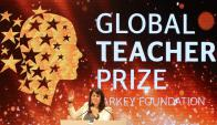 "Maggie MacDonnell ganó el ""Nobel de los profesores"". Foto: AFP"