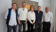 Joaquín Morixe, Andrés Bzurovski, Julia Rodríguez Larreta, Ariel Pfeffer, Andrés Cerisola
