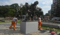 """Inauguraron el monumento al """"Nunca Más"""". Foto: Ariel Colmegna."""