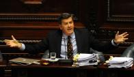 Pedro Bordaberry en interpelación al ministro Bonomi. Foto: Fernando Ponzetto