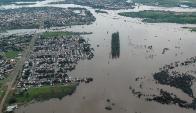 Salto es el departamento más afectado por las lluvias y la crecida del río. Foto: Sinae