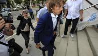 Luka Modric llegando al juzgado para dar su testificación. Foto: EFE