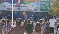 """Una oradora del Pit habló del """"anormal que hoy preside Yankilandia"""". Foto: F. Ponzetto"""