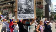 Protestas ante Goldman Sachs. Foto: AFP