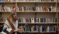 Cristina Deberti, licenciada Bibliotecología en el exterior. Foto: A. Colmegna