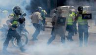 Caracas vivió una nueva jornada de violentas protestas. Foto: AFP
