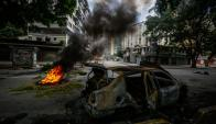 Caracas volvió a ser campo de guerra durante paro de oposición. Foto: EFE