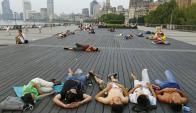 Ola de calor en China. Foto: AFP.