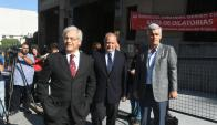 Mujica, Trobo y Goñi llegando a la sede. Foto: Francisco Flores