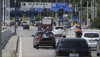 Se pudo transitar sin pagar por los peajes el sábado (de 10 a 14) y ayer (de 19 a 00). Foto: Inés Guimaraens