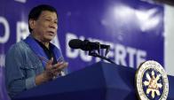 Rodrigo Duterte, presidente de Filipinas. Foto: AFP.