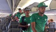 Los jugadores de Chapecoense volvieron a volar tras el accidente. Foto: Globoesporte