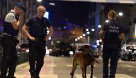 La policía belga en el lugar del incidente en la capital, Bruselas. Foto: Reuters
