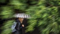 Lluvia. Foto: AFP