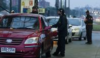 Ayer el suministro de naftas se vio afectado en la mitad de las estaciones de la capital Foto. F.  Ponzetto