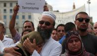 Musulmanes residentes en Barcelona ayer en una manifestación. Foto: Reuters
