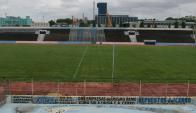 Césped. La cancha del Estadio Tróccoli luce espectacular gracias al trabajo realizado en las últimas semanas por ingenieros.