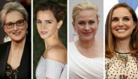 Meryl Streep, Emma Watson, Patricia Arquette y Natalie Portman.