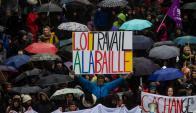 Trabajadores y estudiantes protestan contra reforma laboral. Foto: EFE
