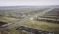 Así se ve hoy Auschwitz desde el aire. Imagen: BBC.
