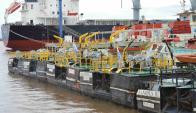 La terminal de Nueva Palmira recibe barcos cargueros de todo el mundo. Foto: D. Rojas