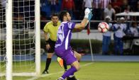 Sebastián Viera fue el gran protagonista de Junior en la Sudamericana
