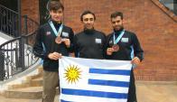 Los uruguayos que viajaron a Colombia por taekwondo