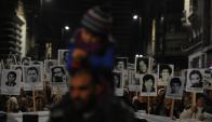 22ª Marcha del Silencio en Montevideo. Foto: Fernando Ponzetto.
