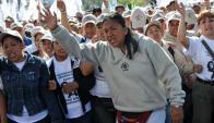 Milagro Sala es líder de la agrupación Tupac Amaru.Foto:La Nación/GDA