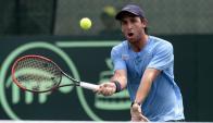 Avanza. Martín Cuevas continúa vivo en dobles. Foto: AFP