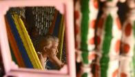 María Bersabé tiene 86 años y vive en El Salvador. FOTO: AFP