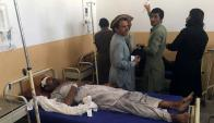 Una de las víctimas de la bomba que explotó en Kurram. Foto: AFP.