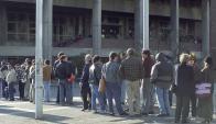 Fila en el Banco de Previsión Social. Foto: Archivo El País