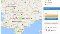 Varios barrios de Montevideo se vieron afectados por el apagón. Imagen: UTE.