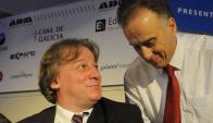 Distendidos: los exjerarcas Fernando Lorenzo y Fernando Calloia. Foto: Archivo