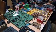 Incautaron armas y cientos de municiones. Foto: Unicom