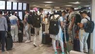 La selección de Uruguay está en viaje de vuelta a Montevideo. Foto: @Uruguay