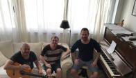 Hernán Romero, Gabriel Rossi y Rodrigo Pahlen. Foto: Difusión.