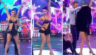 Flor Marcasoli le puso el pecho al Bailando (captura tv)