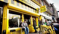 """Mellow Yellow. El """"coffeeshop"""" debió cerrar por estar cerca de una escuela."""