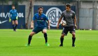 Sergio Blanco en el amistoso entre Wanderers y San Lorenzo. Foto: @mwfc_oficial