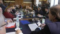La comisión del Senado analizó la situación del Mercosur con foco en  Venezuela. Foto: F. Ponzetto