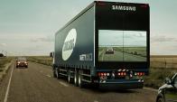 Samsung. Su prototipo de camión da más visibilidad a conductores en la ruta. (Foto: Archivo El País)