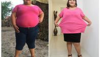 Dayana Camacho pesaba 195 kilos. Foto: EFE