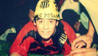 Diego Maradona con el gorro de Peñarol.