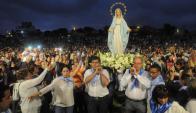 Fieles católicos se han reunido varias veces en el punto para una bendición. Foto: A. Colmegna